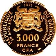 5000 Francs (Independence) – obverse