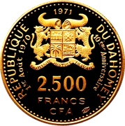 2500 Francs (Independence) – obverse