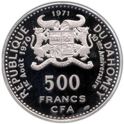 500 Francs (Independence) – obverse