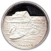 100 Francs (Independence) – reverse