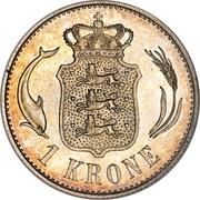 1 Krone - Christian IX -  reverse