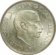 2 Kroner - Christian X (Silver Jubilee of Reign) -  obverse