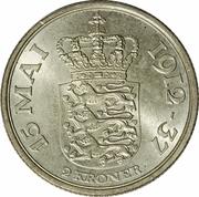 2 Kroner - Christian X (Silver Jubilee of Reign) -  reverse