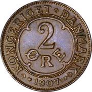 2 Øre - Frederik VIII – reverse