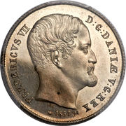 ½ Rigsdaler - Frederik VII – obverse