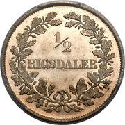 ½ Rigsdaler - Frederik VII – reverse