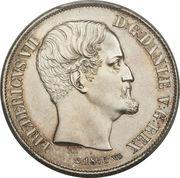 1 Rigsdaler - Frederik VII – obverse