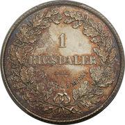1 Rigsdaler - Frederik VII – reverse