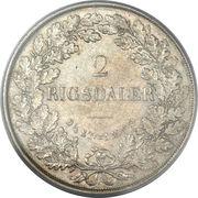 2 Rigsdaler - Frederik VII – reverse