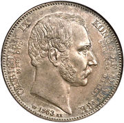 2 Rigsdaler - Christian IX (Death and Accession) – obverse