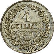 4 Skilling Rigsmont - Christian IX – reverse