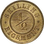 ½ Skilling Rigsmønt - Christian IX – reverse