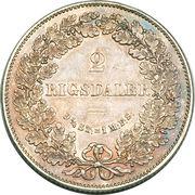 2 Rigsdaler - Christian IX – reverse