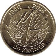 20 Kroner - Margrethe II (Queen Margrethe II) -  reverse