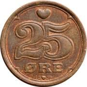 25 Øre - Margrethe II -  reverse