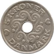 5 Kroner - Margrethe II -  reverse