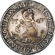 1 Sølvgylden - Christian III (Flensborg Mint) – obverse