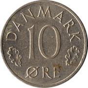 10 Øre - Margrethe II -  reverse