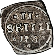 2 Skilling - Frederik II (Seven-Years War coinage) – reverse