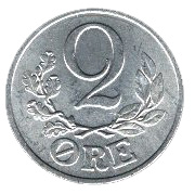 2 Øre - Christian X (German Occupation) -  reverse