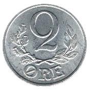 2 Øre - Christian X -  reverse