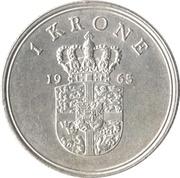 1 Krone - Frederik IX -  reverse