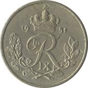 25 Øre - Frederik IX -  obverse