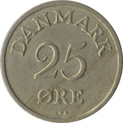 25 Øre - Frederik IX -  reverse