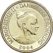 20 Kroner - Margrethe II (4th portrait; Svaneke Tower) -  obverse