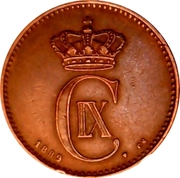 2 Øre - Christian IX – obverse