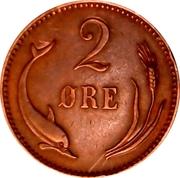 2 Øre - Christian IX – reverse