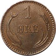 1 Øre - Christian IX – reverse
