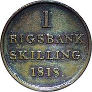 1 Rigsbankskilling - Frederik VI -  reverse