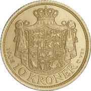 10 Kroner - Frederik VIII -  reverse