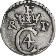 1 Kroneskilling - Christian IV – obverse
