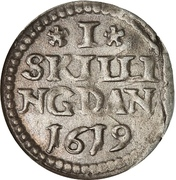 1 Skilling Dansk - Christian IV – reverse