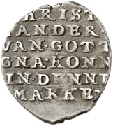 4 Skilling Lybsk - Christian IV (Wire money) – reverse