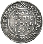 1/16 Thaler - Frederik III (Roman style bust) – reverse