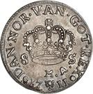 8 Skilling Dansk - Frederik IV (Type II) – reverse