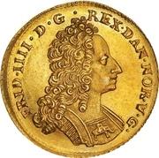 2 Rixdaler / 1 Courant Dukat - Frederik IV -  obverse
