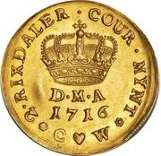 2 Rixdaler / 1 Courant Dukat - Frederik IV -  reverse