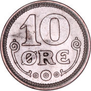10 Øre - Christian X -  reverse