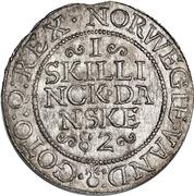 1 Skilling Dansk - Frederik II (Frederiksborg mint) – reverse