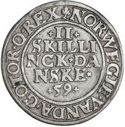 2 Skilling Dansk - Christian III (Copenhagen mint) – reverse