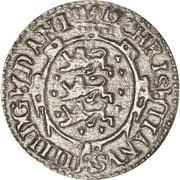 1 Skilling Dansk - Christian IV (Oval shield; date under value) – obverse