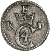 1 Skilling Dansk - Christian IV – obverse
