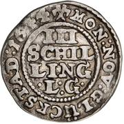 3 Skilling Lybsk - Christian IV – reverse