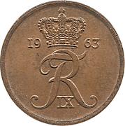 1 Øre - Frederik IX – obverse