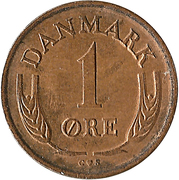 1 Øre - Frederik IX – reverse