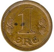 1 Øre - Christian X – reverse